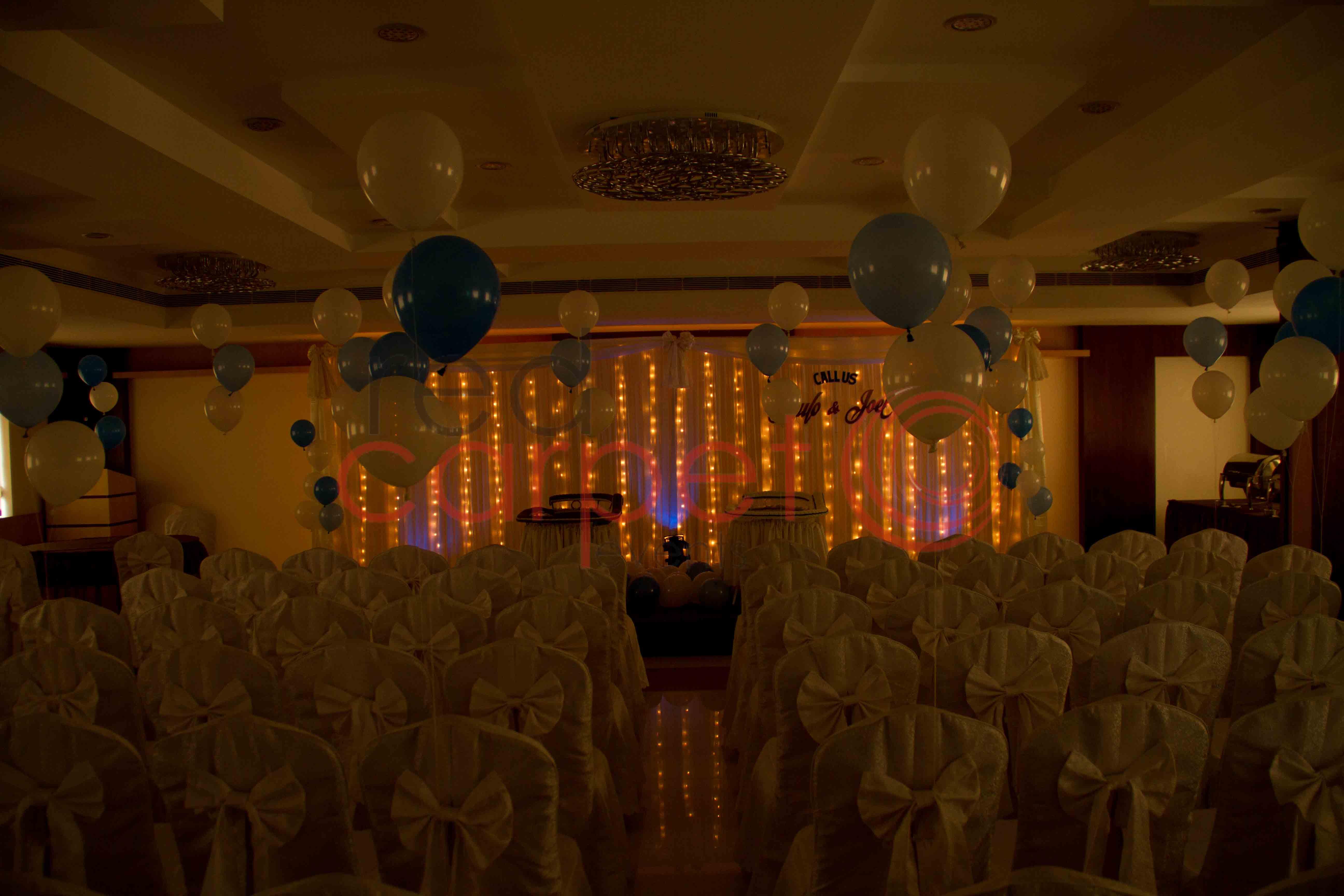 Eden Decorators Kottayam : Simple baptism stage red carpet events