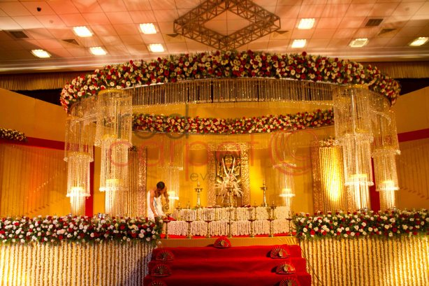 Hindu crystal wedding stage