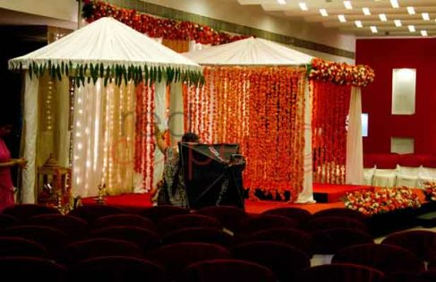 brahmin wedding decor with gowri mandap kerala