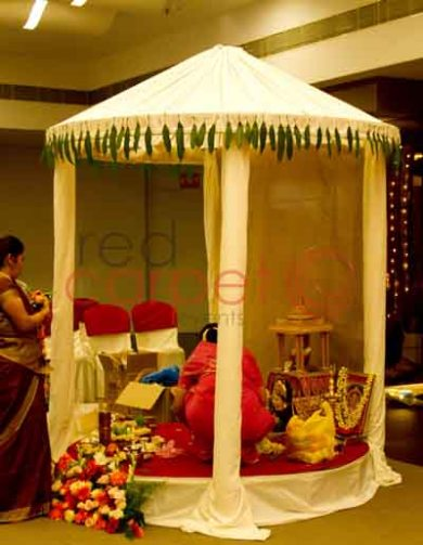 gowri gouri mandap for brahmin wedding in kerala