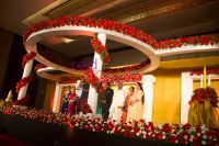 christian wedding stage decor kerala