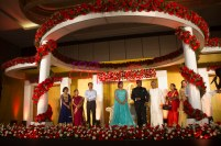 christian flower decor stage at crone plaza hotel kochi kerala