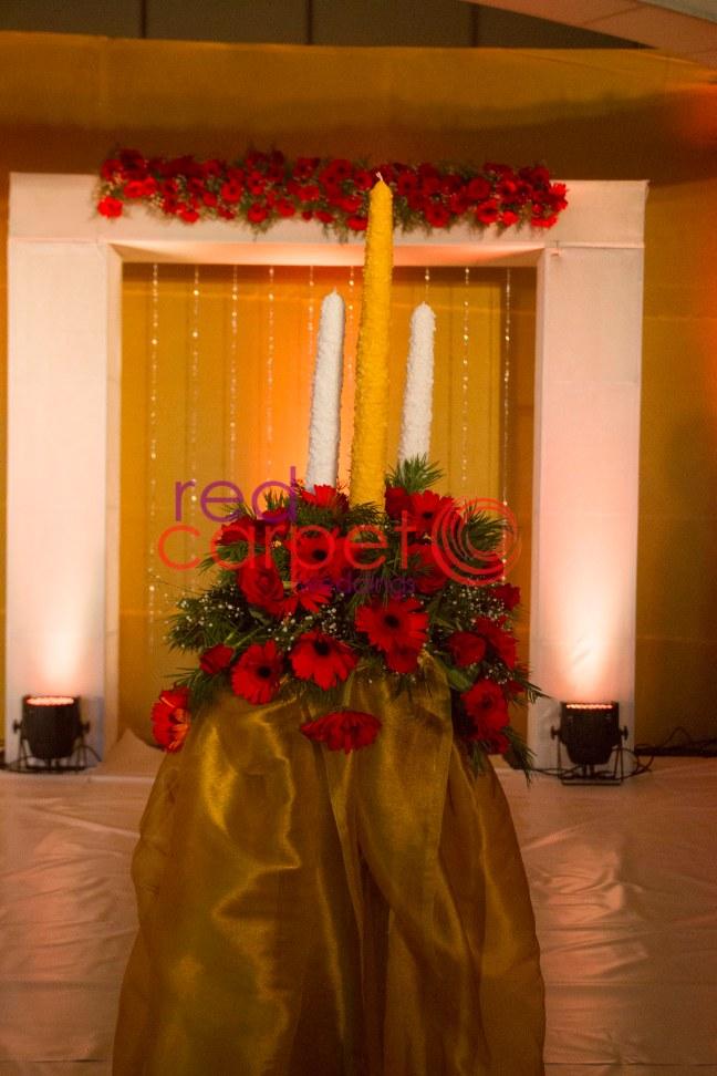 unity candle lighting in kerala weddings